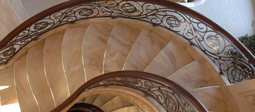 Мраморные лестницы в Донецке